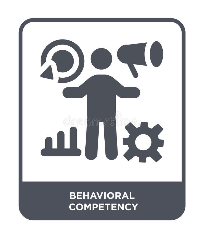 behawioralna competency ikona w modnym projekta stylu behawioralna competency ikona odizolowywająca na białym tle behawioralny co royalty ilustracja