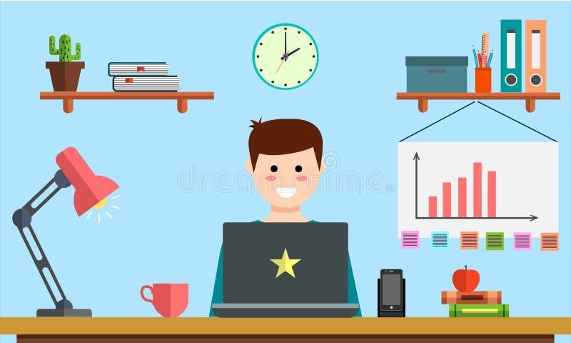 Beheer betaalt het digitale marketing srartup creatieve het teamontwerp van planningsanalytics per sociale de media van klikseo a royalty-vrije illustratie