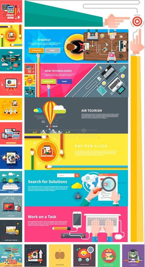 Beheer digitale marketing srartup planningsseo vector illustratie