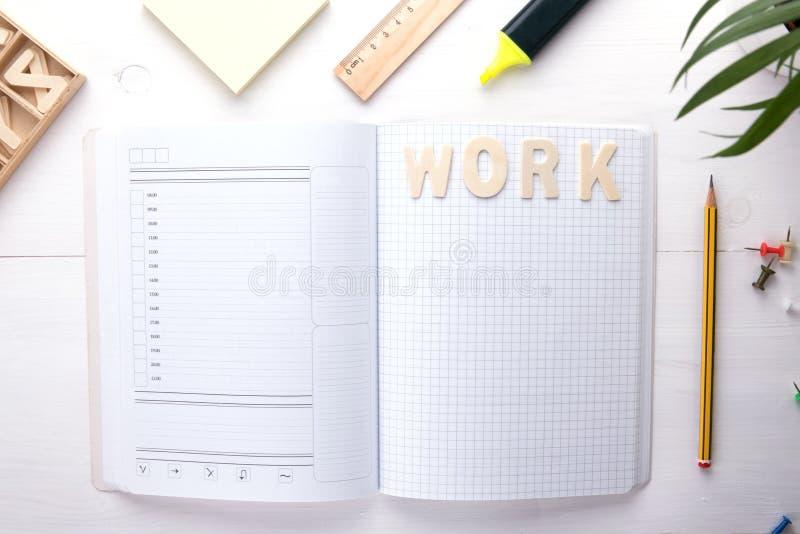 Beheer uw gedachten, plannen en organiseer uw het werktijd stock afbeelding