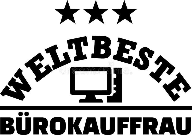 Download Beheerder Het Duits Van Het Werelden De Beste Vrouwelijke Bureau Vector Illustratie - Illustratie bestaande uit businesswoman, arbeider: 114226126