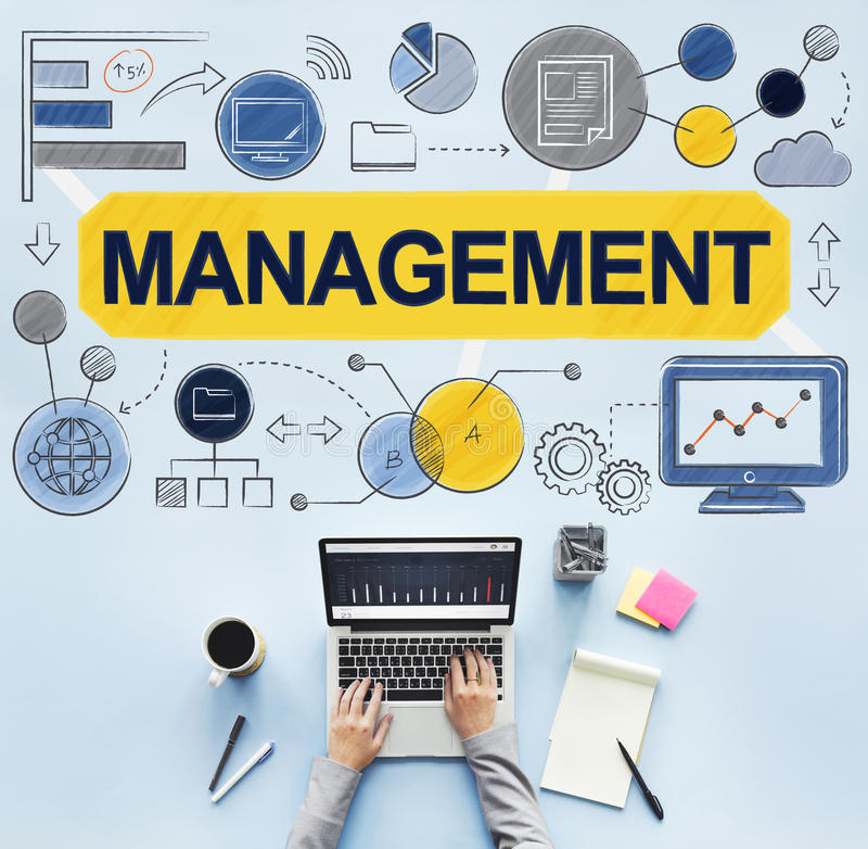 Beheersmanager Managing Organization Concept royalty-vrije stock fotografie