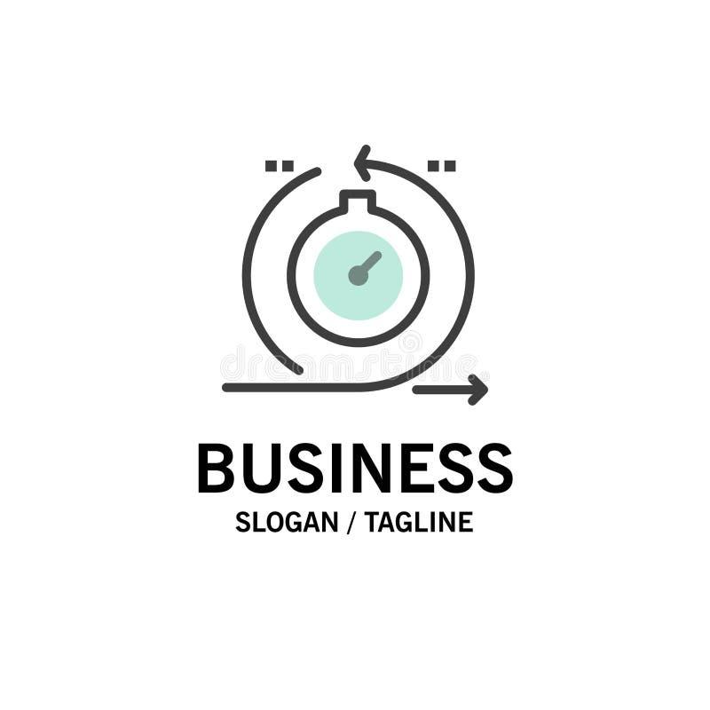 Behendig, Cyclus, Ontwikkeling, Snel, Herhalingszaken Logo Template vlakke kleur stock illustratie