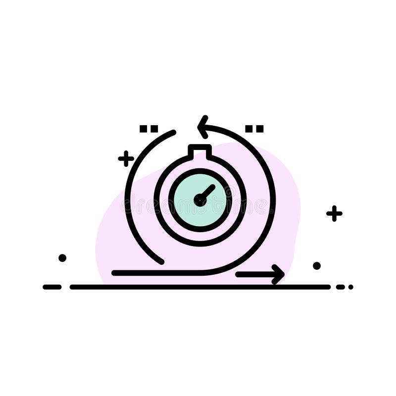 Behendig, Cyclus, Ontwikkeling, Snel, Malplaatje Herhalings van de Bedrijfs het Vlakke Lijn Gevulde Pictogram Vectorbanner vector illustratie
