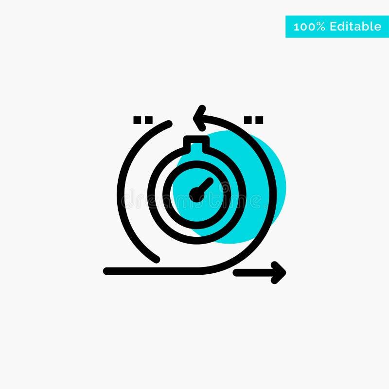 Behendig, Cyclus, Ontwikkeling, Snel, van het de cirkelpunt van het Herhalings het turkooise hoogtepunt Vectorpictogram royalty-vrije illustratie