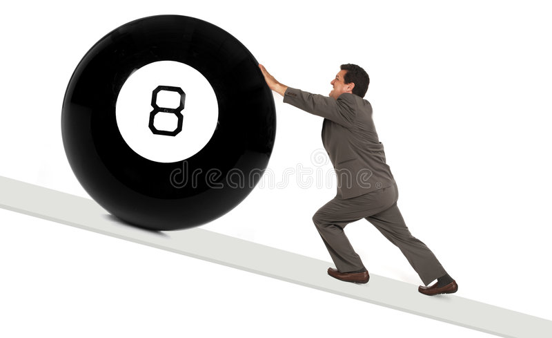 Download Behind the 8 ball stock photo. Image of resistance, uphill - 1753162