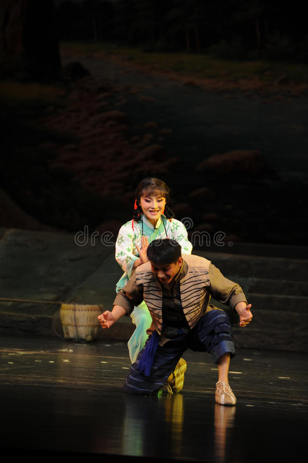Behind the attack- Jiangxi opera a steelyard. Jiangxi opera a steelyard is adapted from a true story: the last century fortys, the protagonists father runs an stock photos
