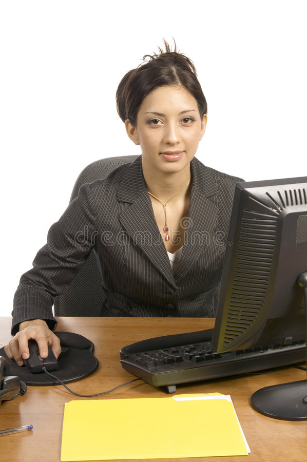 Behind the desk royalty free stock photography