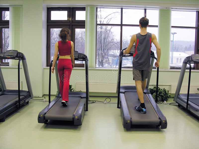 Download Behind Girl And Boy In Health Club Stock Image - Image: 500691