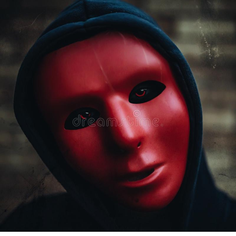 Behind the mask royalty free stock images