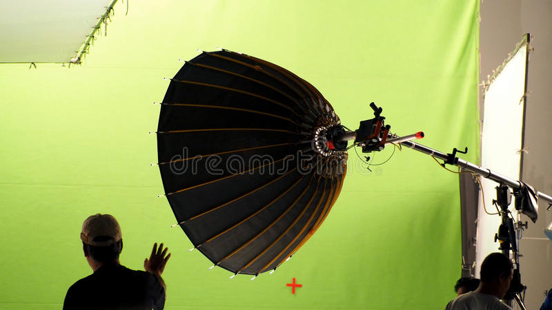 Behind the scenes of making video production. stock images