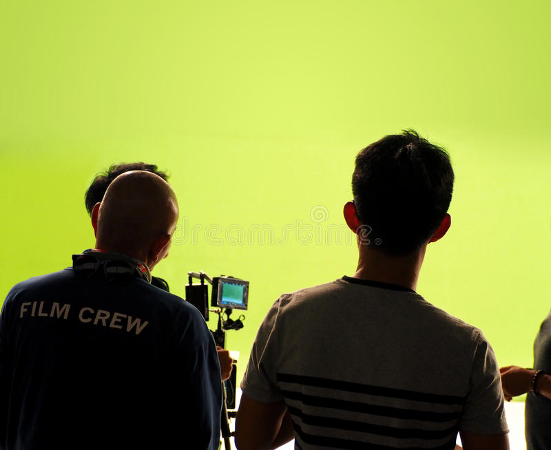 Behind the scenes of making video production. royalty free stock photo