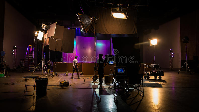 Behind the scenes royalty free stock photography