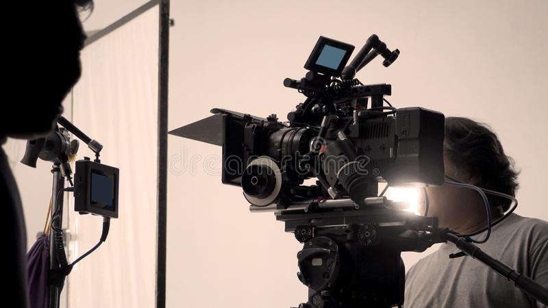Behind the shooting or filming video movie production stock images
