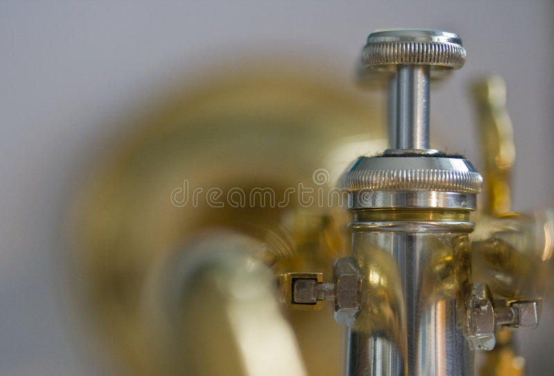 Behind the Trumpet stock photo