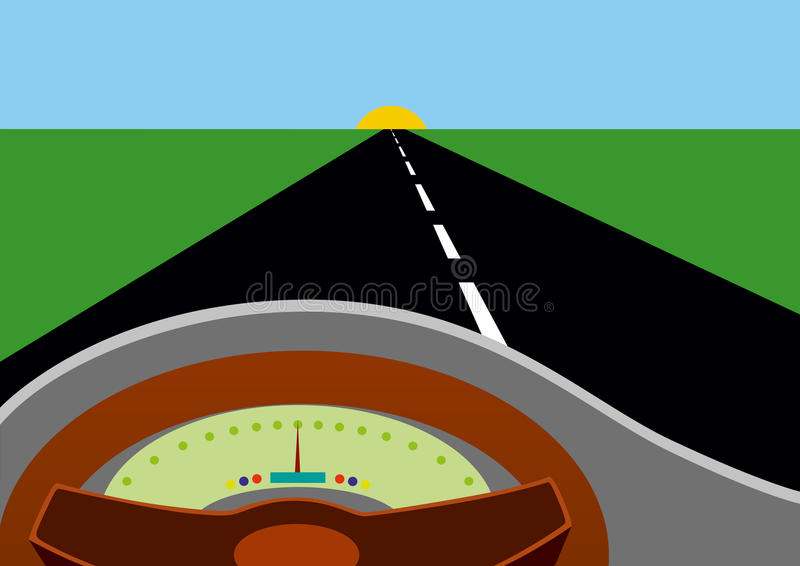 Download Behind the wheel stock vector. Image of markings, distance - 17467479