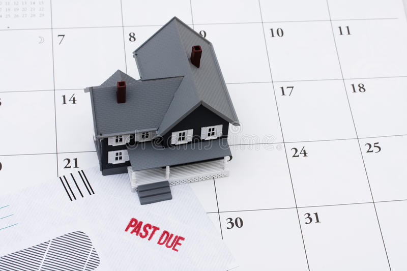 Behind on your mortgage payments royalty free stock image