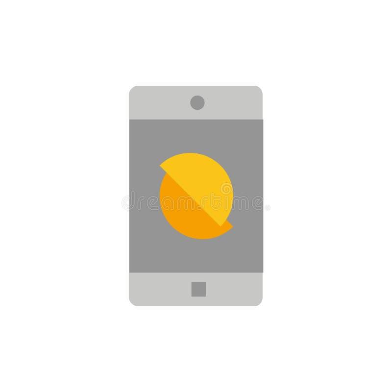 Behinderte Anwendung, behindertes Mobile, bewegliche flache Farbikone Vektorikonen-Fahne Schablone lizenzfreie abbildung