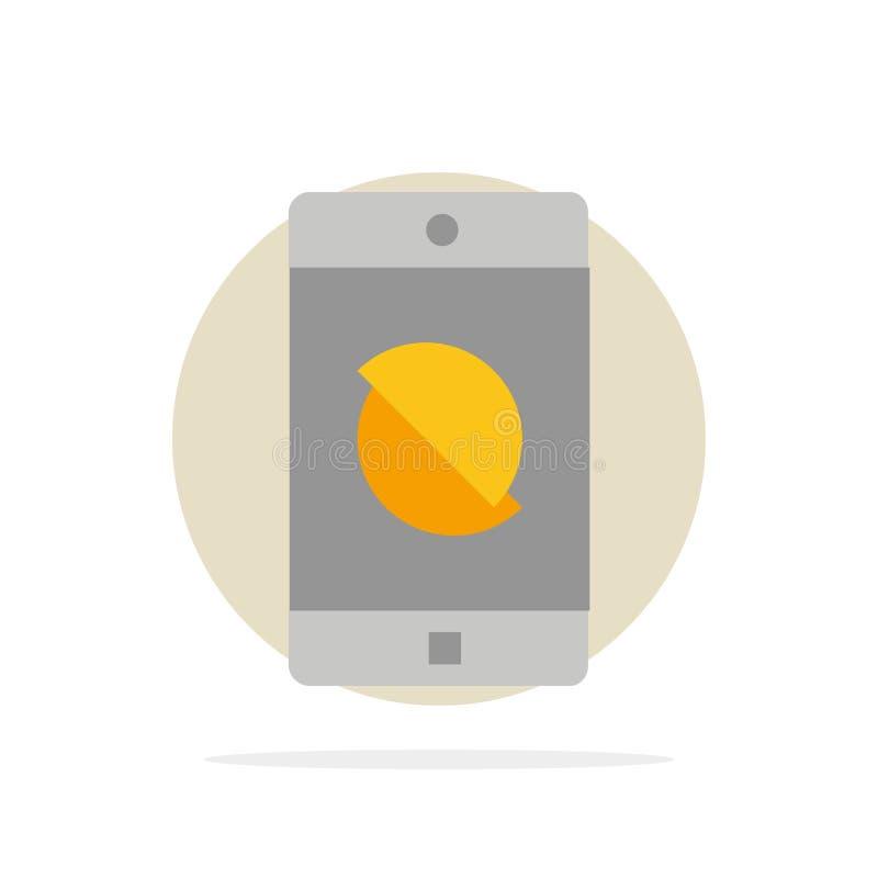 Behinderte Anwendung, behindertes Mobile, flache Ikone Farbe des beweglichen abstrakten Kreis-Hintergrundes stock abbildung
