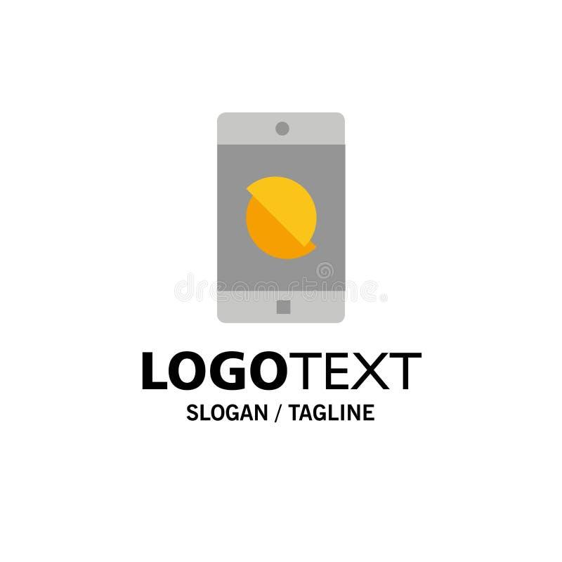 Behinderte Anwendung, behindertes Mobile, Mobilfunkgeschäft Logo Template flache Farbe lizenzfreie abbildung