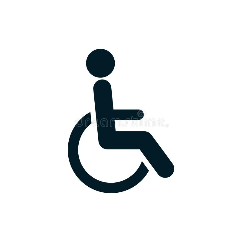 Behinderter Logoikonenhandikap-Zeichenvektor stock abbildung