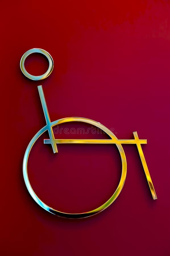 Behindertes Behinderterzeichen lizenzfreie stockfotografie