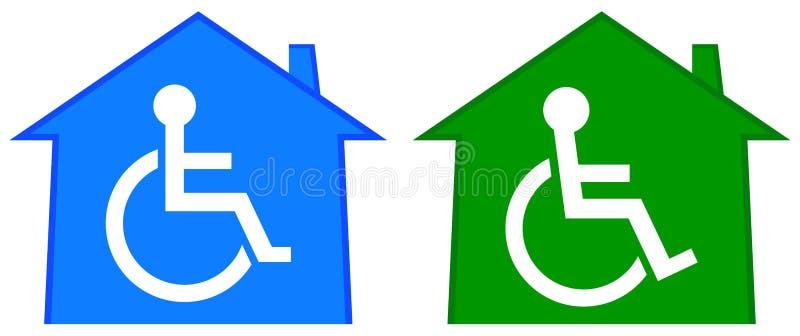 Behindertes Gesundheitswesenhaus lizenzfreie abbildung