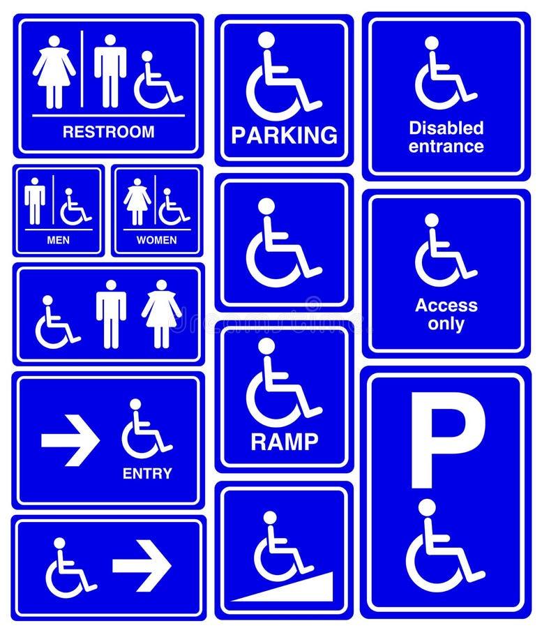 Behindertes, Mann- und Frauensymbol vektor abbildung