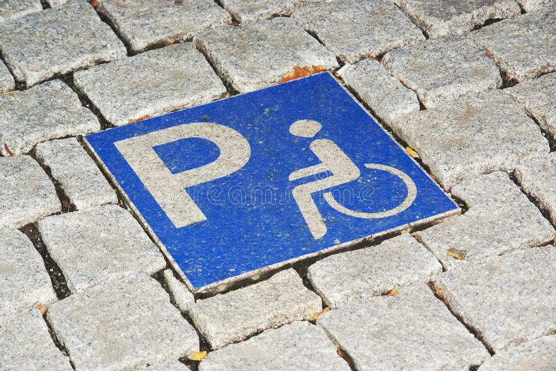Behindertes Parken stockbild