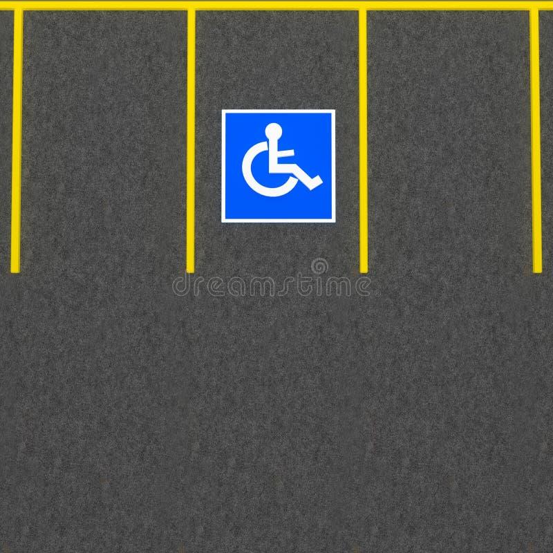 Behindertes Parken lizenzfreie stockbilder