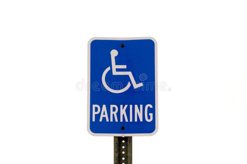 Behindertes Parken-Zeichen lizenzfreie stockfotos