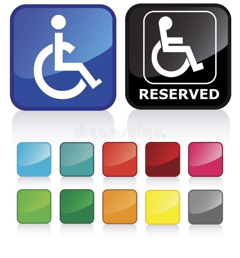 Behindertzeichen lizenzfreie abbildung