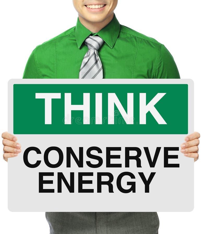 Behoud Energie royalty-vrije stock foto