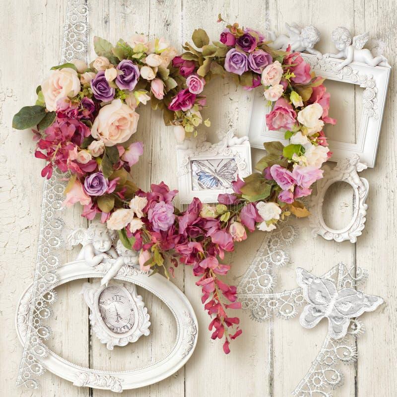 Bei accessori e regalo per il giorno del ` del biglietto di S. Valentino o di nozze s fotografie stock