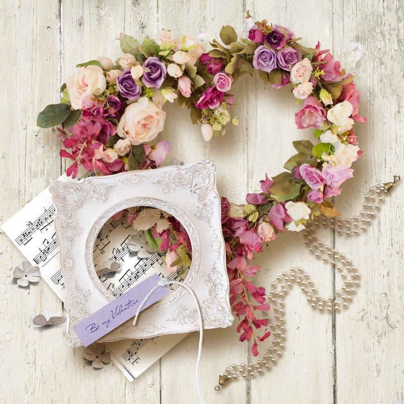 Bei accessori e regalo per il giorno del ` del biglietto di S. Valentino o di nozze s fotografia stock