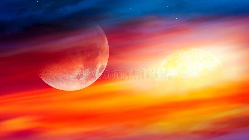Bei cloudscape e sole, colpo di alba fotografie stock libere da diritti