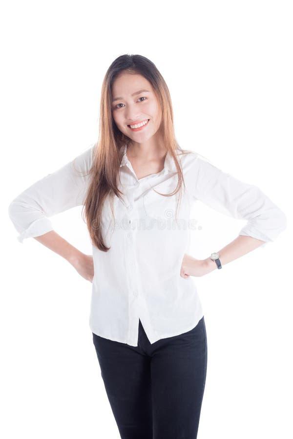 Bei condizione e sorriso della giovane donna fotografie stock