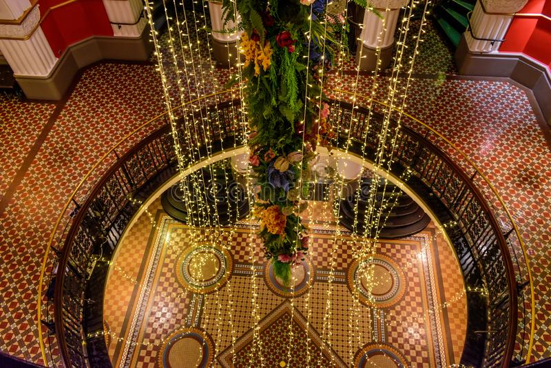 Bei decorazione e pavimenti in regina Victoria Building fotografia stock