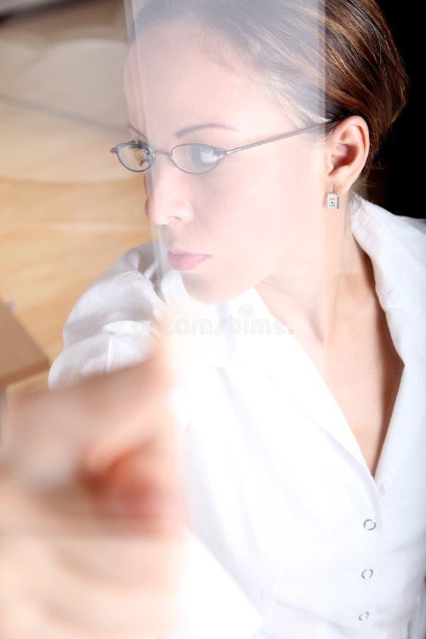 Download Bei der Arbeit stockfoto. Bild von attraktiv, konzept - 12202802