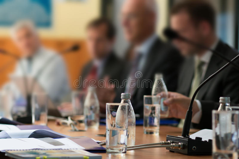 Bei der Konferenz stockbilder