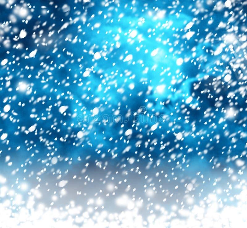 Bei fiocchi di neve su fondo astratto illustrazione vettoriale