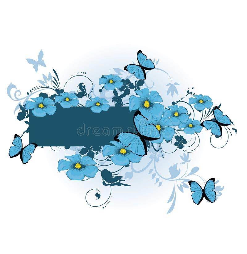 Bei fiori blu illustrazione vettoriale