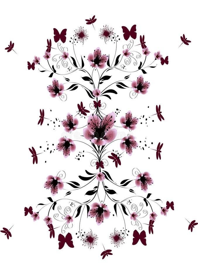 Bei fiori della ciliegia illustrazione di stock