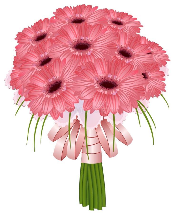 Bei fiori della gerbera di nozze royalty illustrazione gratis