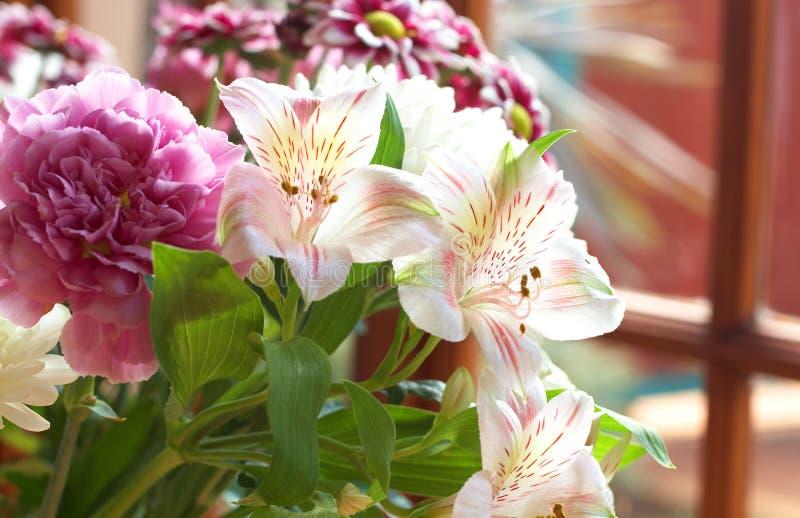 Bei fiori dentellare con lo spazio della copia fotografie stock libere da diritti