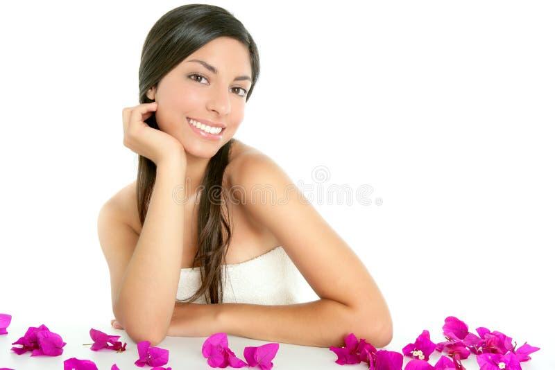 Bei fiori di boungainvillea e dell'indiano fotografie stock libere da diritti