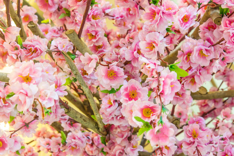 Bei fiori di plastica fotografie stock