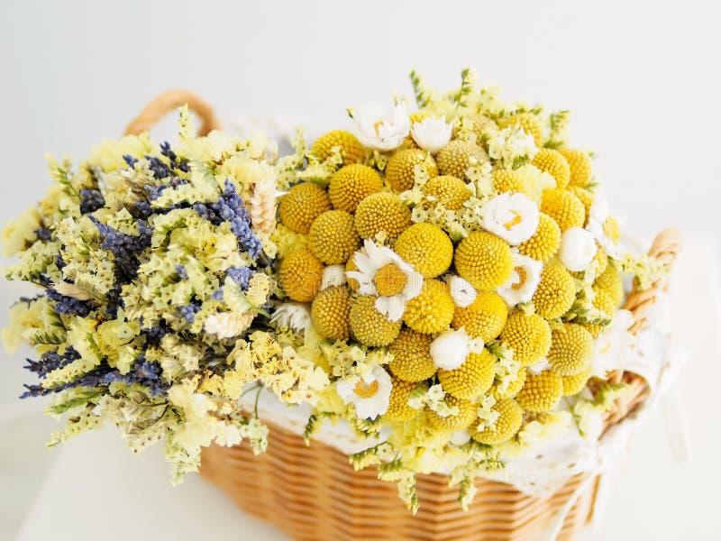Bei fiori secchi fotografia stock