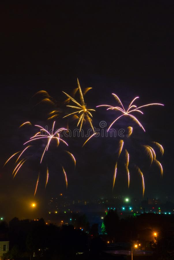 Bei fuochi d'artificio immagini stock
