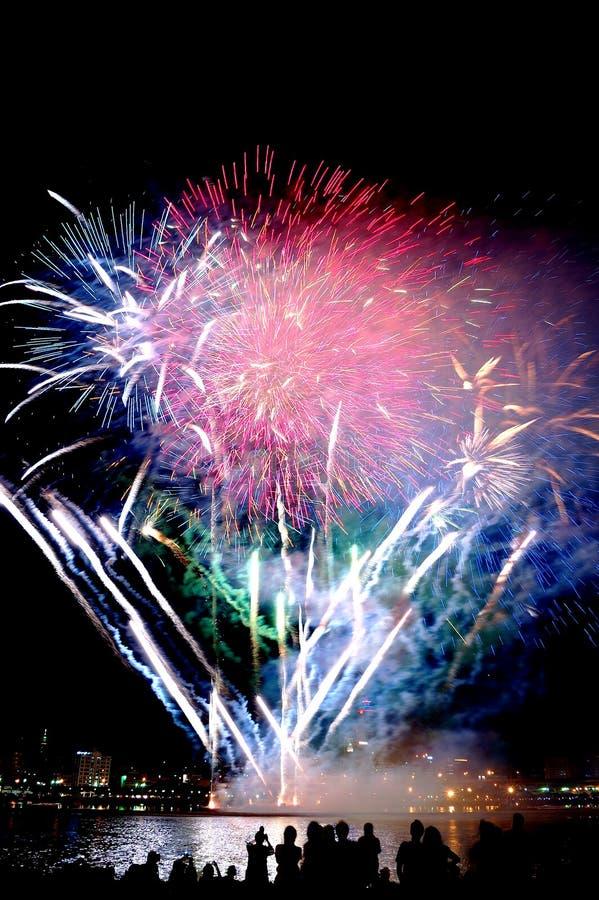 Bei fuochi d'artificio immagine stock